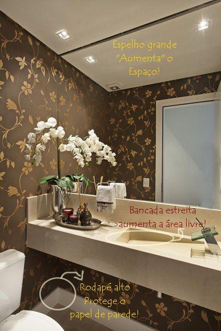 Veja fotos de exemplos do uso inteligente do espaço nos banheiros e lavabos e algumas dicas interessantes e importantes.