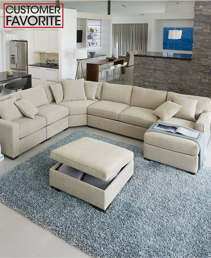 Radley Fabric Sectional Living Room Furniture Sets