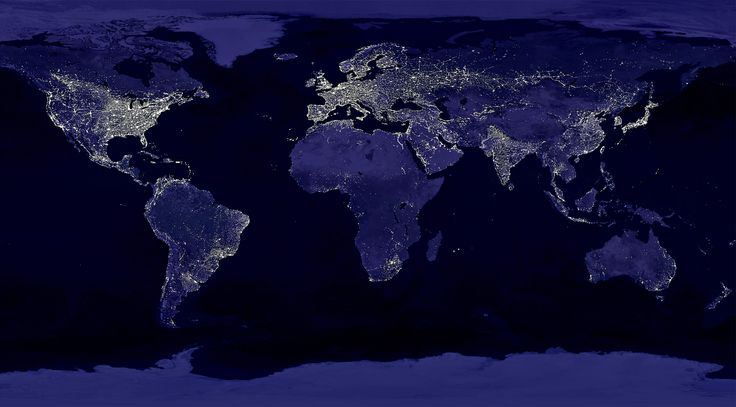 Earth's city lights, as seen from space