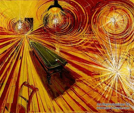 Brett Whiteley's take on a Van Gogh Night Cafe