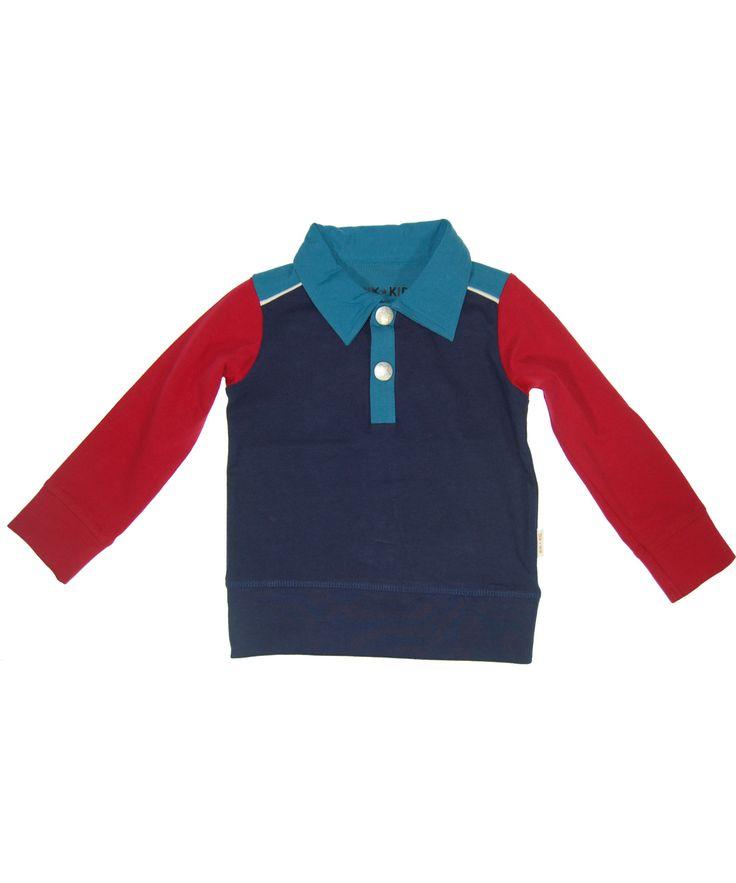 Cool chemise en jersey rouge et bleue par Kik-Kid. kik-kid.fr.emilea.be