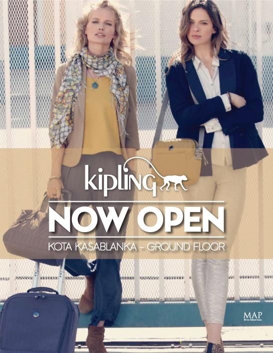 Kipling is NOW OPEN at Kota Kasablanka, #Jakarta · StoreMapCitiesJakartaLocation  MapMapsCityBusiness