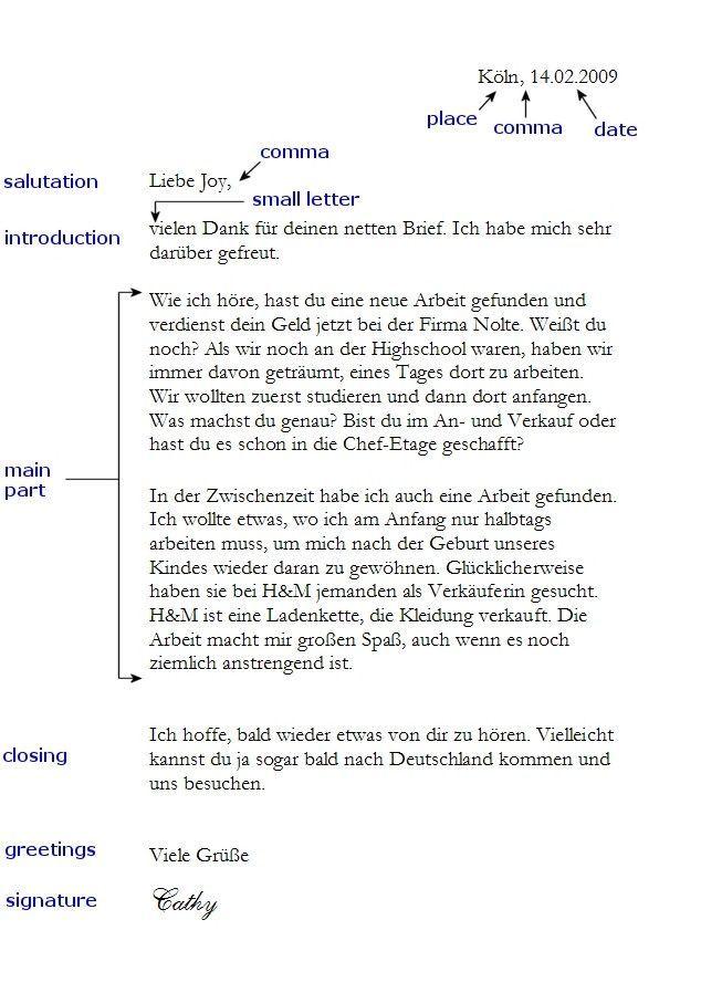 Pin Von Vesna Grahovac Auf Brief Schreiben Deutsch Schreiben