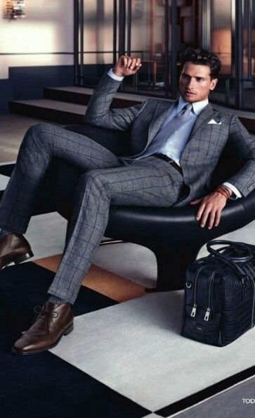 The classy man. Windowpane suit. Suit Up. SUITS ONLY! men's fashion and style