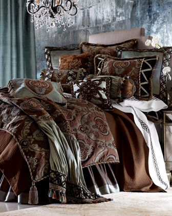 """Brompton Court"" Bed Linens  by Dian Austin Couture Home.  Neimans and Horchow. ❤❤❤"
