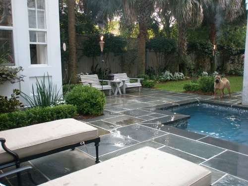 how to clean blue slate patio