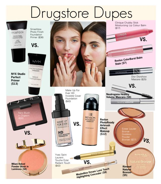 Drugstore Dupes fo High-End Products by kusja on Polyvore featuring beauty, Beauty, beautyproducts and drugstorebeauty