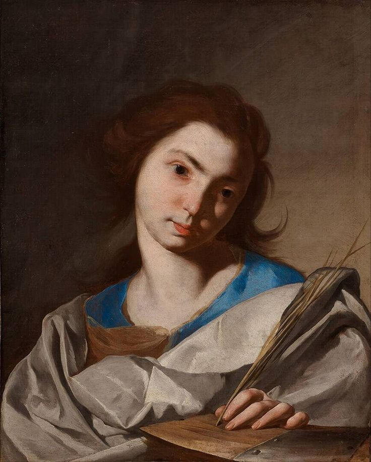 Saint Catherine of Alexandria, Bernardo Cavallino, 1645 - 1655,68 x 58 cm, oil on canvas | Museum Boijmans Van Beuningen