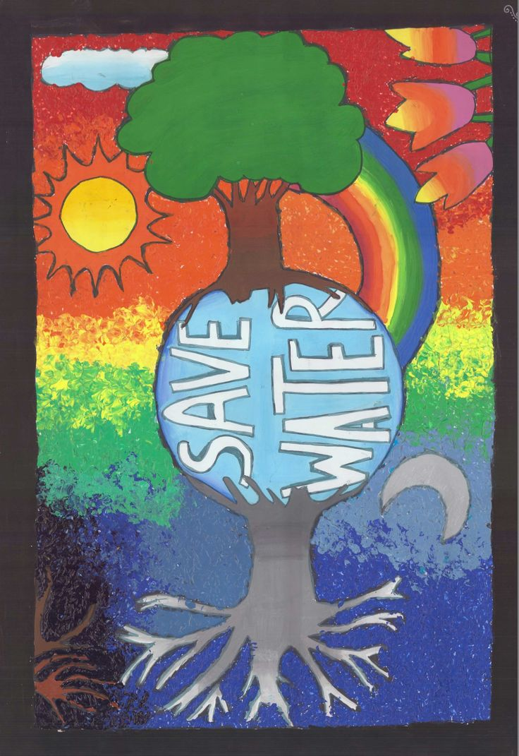 Poster on water conservation by Nayak Miti Bhadreshkumar, Little Flower School, Ahmedabad
