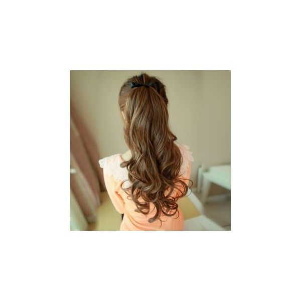 Curly Ponytail Hair Piece (£8.09) ❤ liked on Polyvore featuring accessories, hair accessories and wig