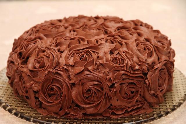 My Little Kitchen: Sjokolade rosekake