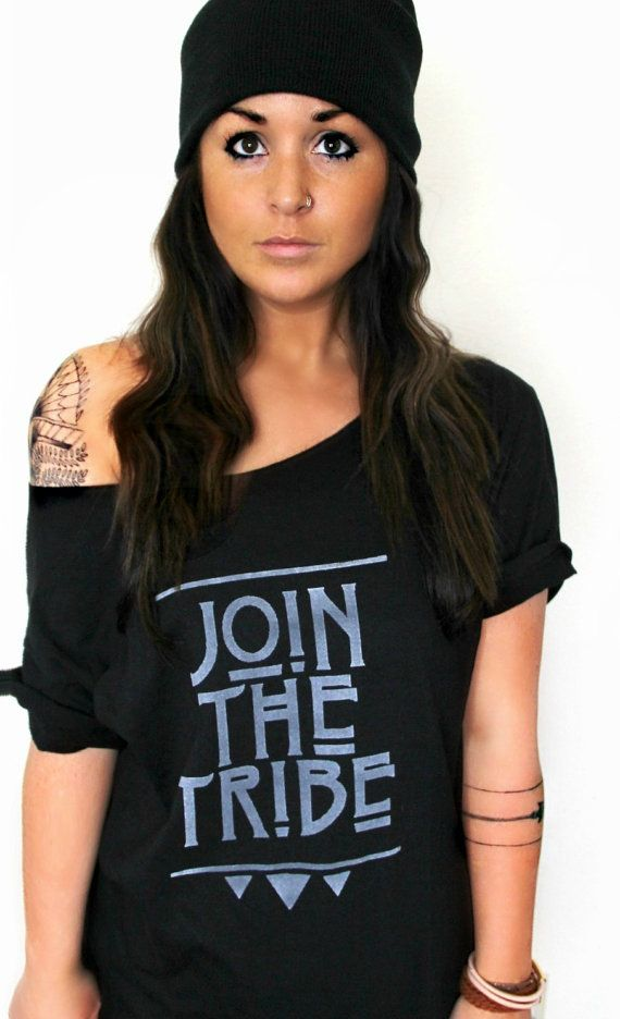 FREE SHIPPING Join The Tribe Tribal Shirt by pebbyforevee on Etsy