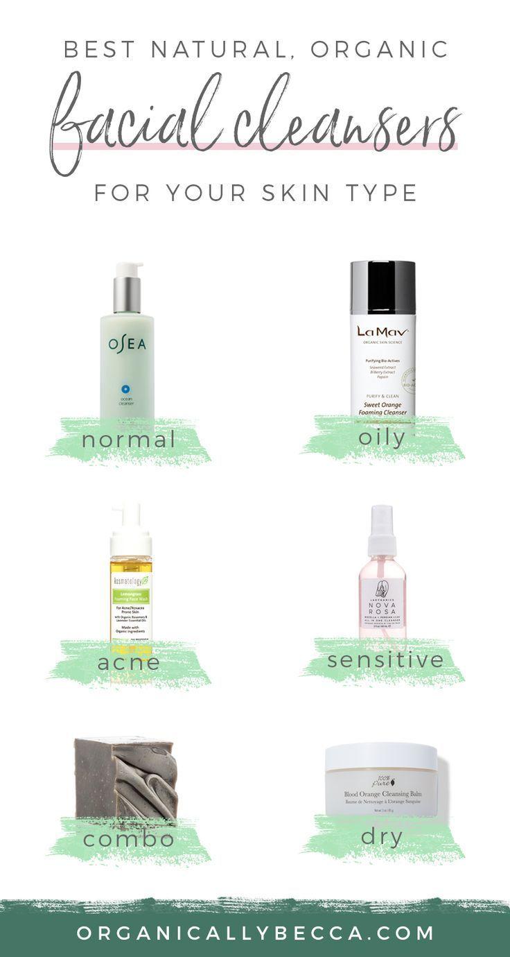 Organic Skincare Natural Cleanser Face Wash Acne Prone Sensitive Skin Oil Cleansing Method Skin Cleanser Products Organic Face Wash Combination Skin Care