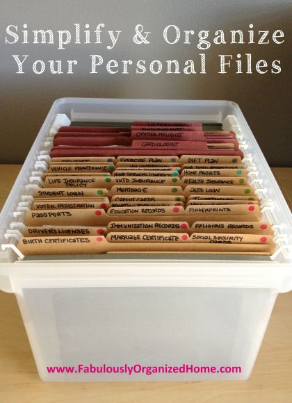 the weekend organizer {creating simplified + organized personal reference files} | Fabulously Organized Home