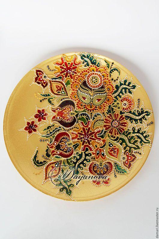 Декоративная посуда ручной работы. Декоративная тарелка