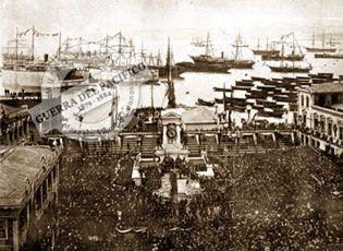 En el aniversario del año 1888 del combate naval, fueron trasladados desde Iquique hasta la cripta de la obra los restos del Capitán Arturo Prat, del Teniente Ignacio Serrano y del Sargento Aldea