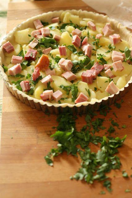 Anna The Nice: Quiche patate al prezzemolo e pancetta