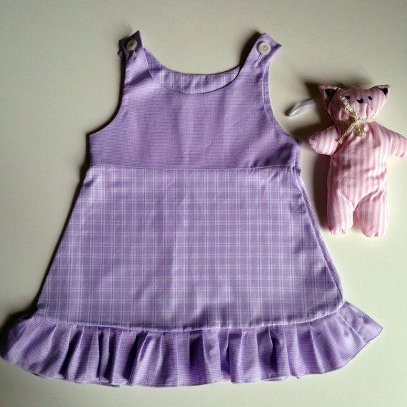 Purple vintage sundress Abitino prendisole by WhileSheSleepsIt