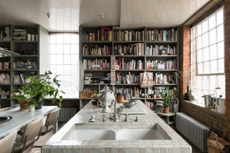 Ilse Crawford London Flat | Remodelista. Crawford has described the kitchen as a library with a cooking area.