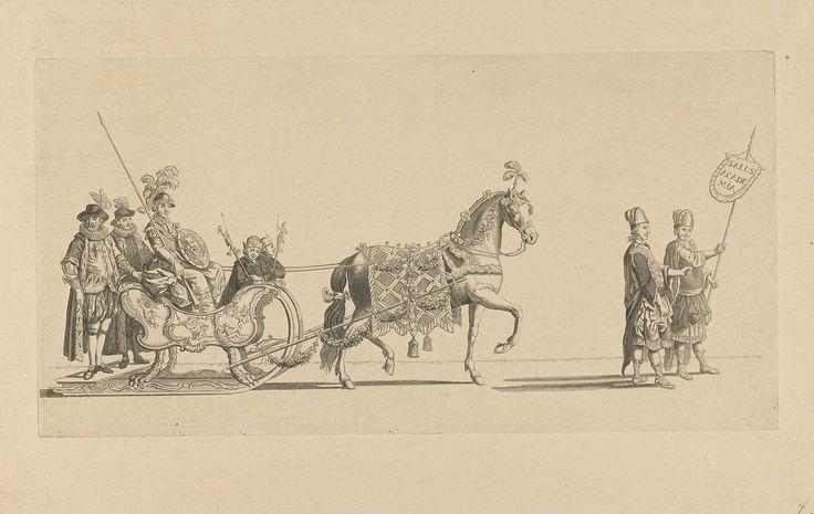 Nicolaas van der Worm | Zevende slede, Nicolaas van der Worm, Abraham Delfos, 1776 | De zevende slede in de optocht. Een slede met Minerva getrokken door een paard en voorafgegaan door twee personen in Griekse kleding. Onderdeel van een reeks van twaalf platen (vóór het nummer en op ander papier) van de sledevaart op 24 januari 1776 georganiseerd door het Leidse genootschap Veniam Pro Laude bij gelegenheid van het Tweede Eeuwfeest van het Leids Ontzet (3 oktober 1574) en de oprichting van de…