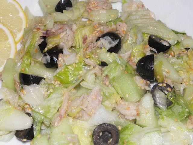 Karcsi főzdéje: Sárgadinnye saláta füstölt hallal