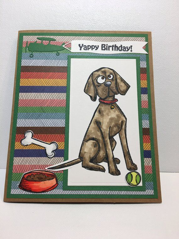 Dog Birthday Card Yappy Lover Handmade Greeting Puppy