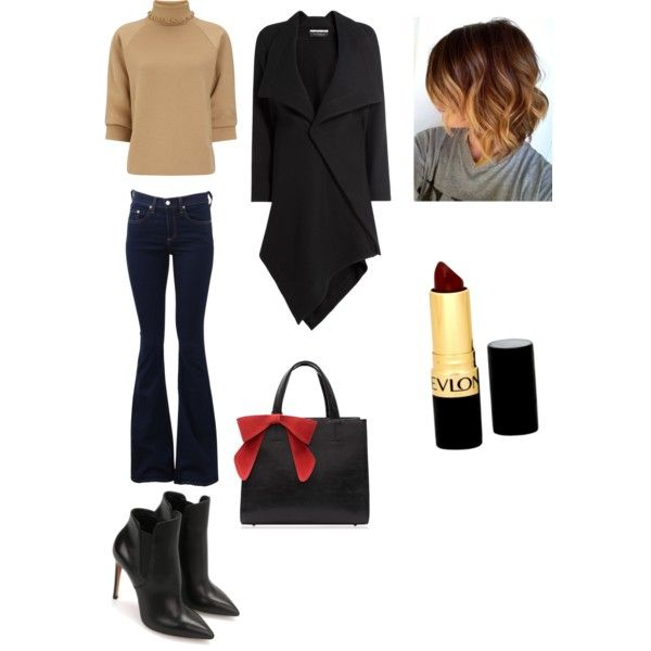 A fashion look from November 2015 by ipekimir featuring J.W. Anderson, Roland Mouret, rag & bone ve Revlon