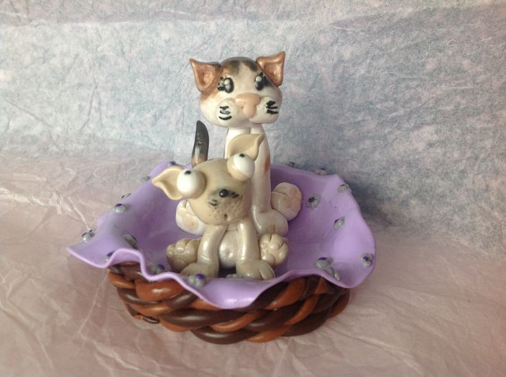 Fimo cat and dog