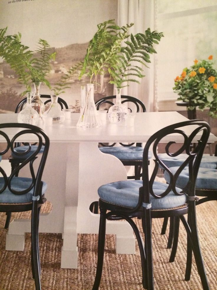 formica white dining top black dining bentwood chairs jute carpet dining room - Carpeted Dining Room