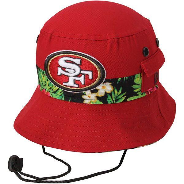 San Francisco 49ers New Era Banded Floral Bucket Hat - Scarlet - $25.99