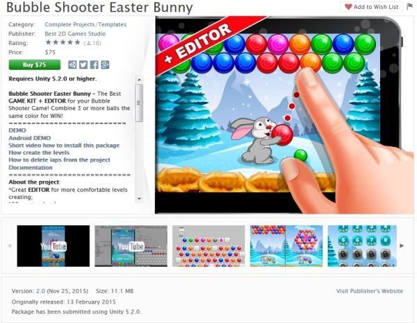 Bubble Shooter Easter Bunny Unity Asset Store Unreal Engine Unity