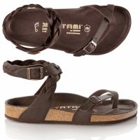 Birkenstock Tatami Braided Yara brown leather sandals size 37