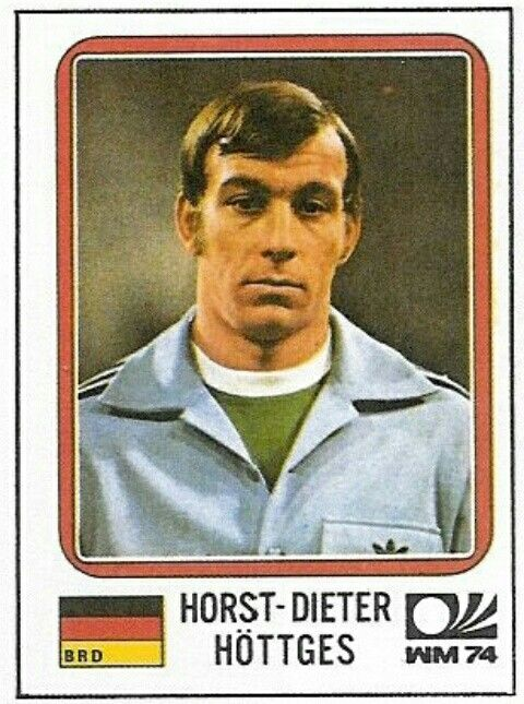 Horst-Dieter Hottges of West Germany in 1974.