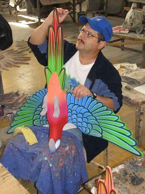 Toucan Paper Mache   Paper Mache Parrot