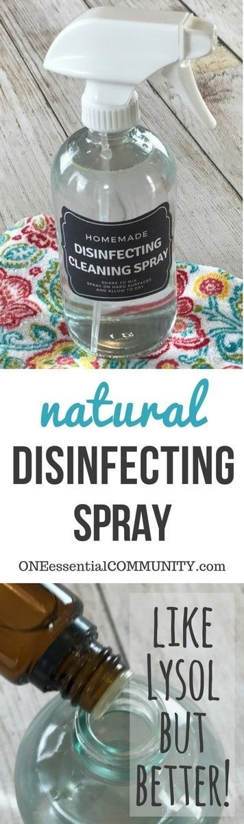 Clean your home and freshen it at the same time with this natural essential oil disinfectant cleaning spray. It's an all-natural, non-toxic powerful cleaner that disinfects, sanitizes, deodorizes, and even kills mold & mildew. And it does all of this with a great, fresh clean scent.