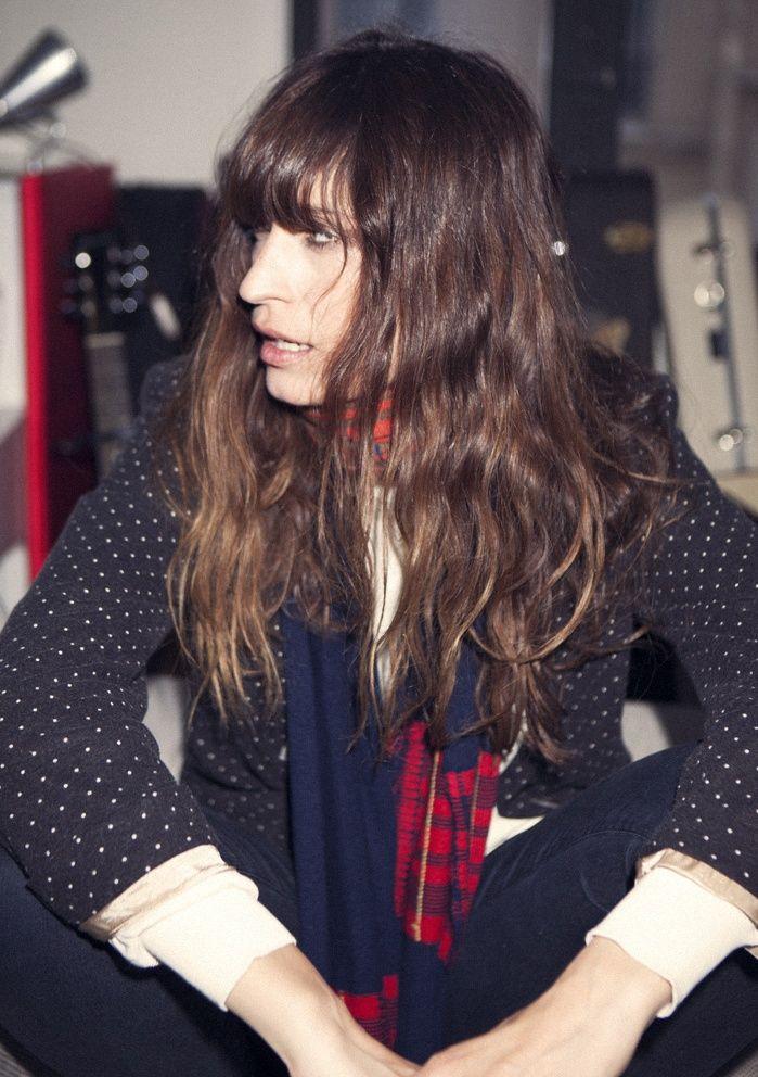 Long Curly Hair with Bangs | Caroline de Maigret © Rubén Vega:
