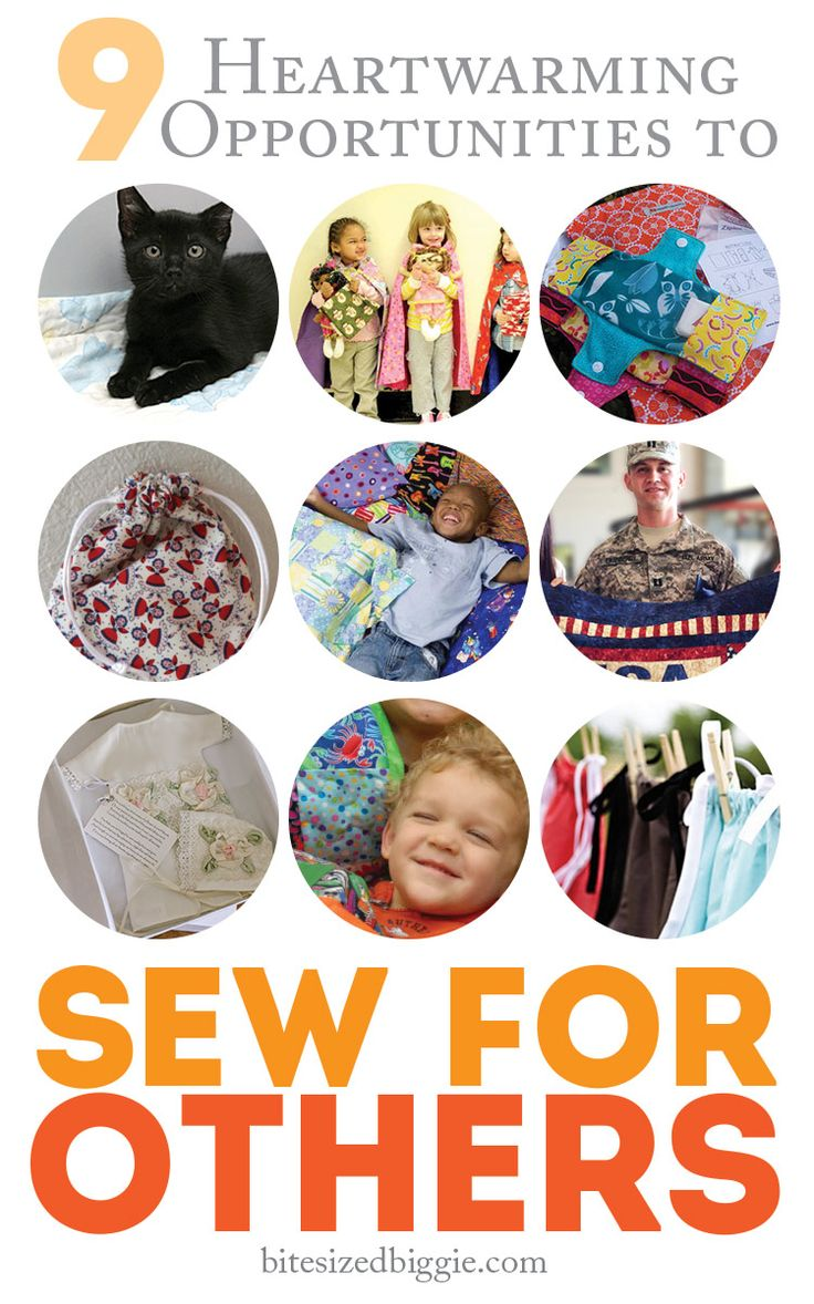 9 Amazing Opportunities to Sew for Others