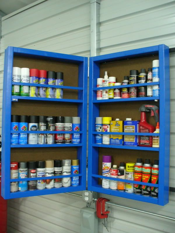 Lets see your spray paint storage - Page 2 - The Garage Journal Board