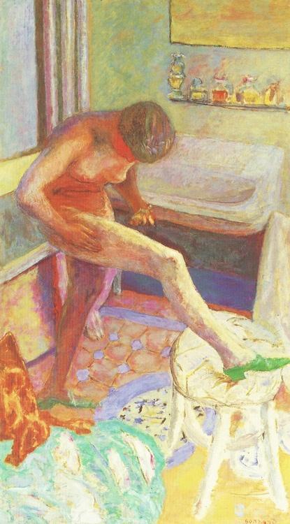 Pierre Bonnard - Nude with Green Slipper (1927):