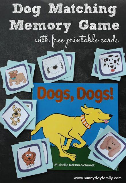 Dog Memory Game with Free Printable Cards – Weihnachten im Schuhkarton