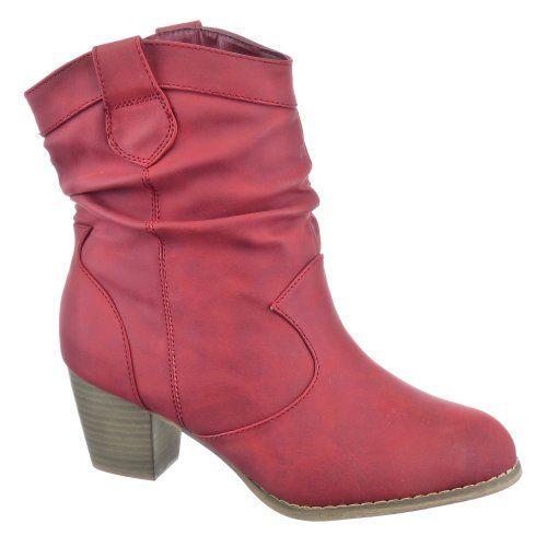 Kickly - Chaussure Mode Bottine Botte Western montante femmes Talon bloc 6 CM - Intérieur Fourrée - Rouge T 37 - UK 4 Kickly http://www.amazon.fr/dp/B00J8UU9JK/ref=cm_sw_r_pi_dp_G3iHub1VBX0V6