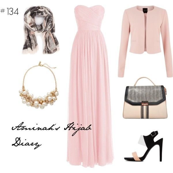 http://aminahshijabdiary.wordpress.com/ #hijab #muslimah #modestfashion #fashion #style #outfit #look #ootd #dress #pink #black