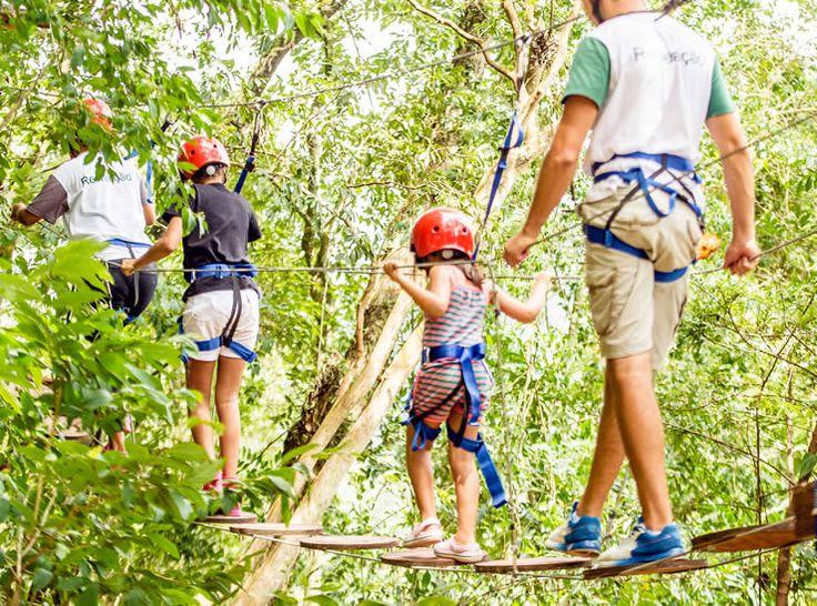 Esportes radicais, tiroleza, arvorismo e muro de escalada. http://www.vilaverdehotel.com.br/lazer.asp