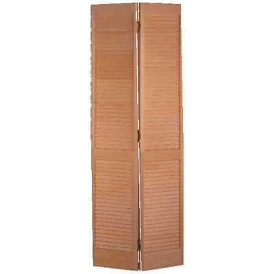 Masonite porte pliante persienne compl te pin clair 24 for Porte home depot
