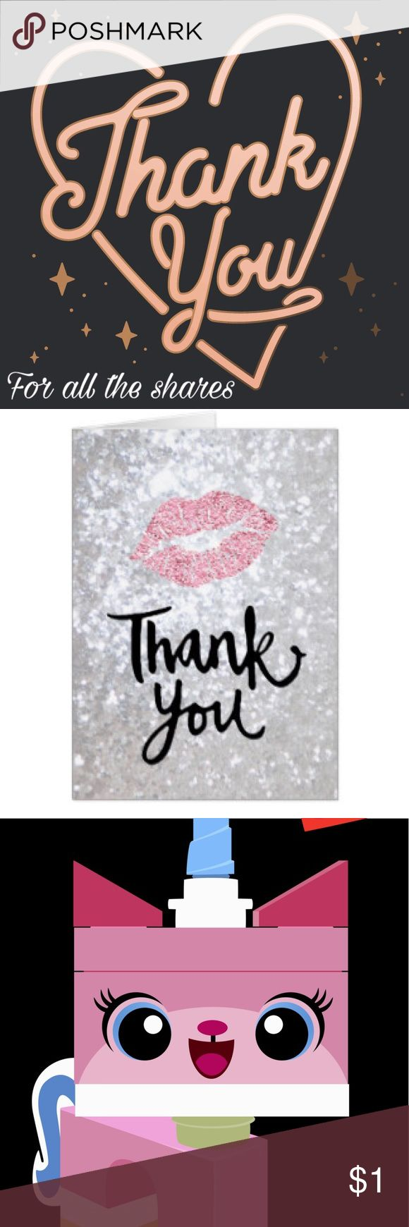 Thank you for All the Shares 💞💞💞 I truly appreciate the love and support of the community. If you've taken the time to share my closet and I somehow have not returned the favor please know that was not my intention. I am a top sharer and love to promote others even more than myself 😊 Perhaps it was due to the busyness of life or not checking my notifications thoroughly enough. But just know that I am always willing to share and support any and everyone especially those who take the time…