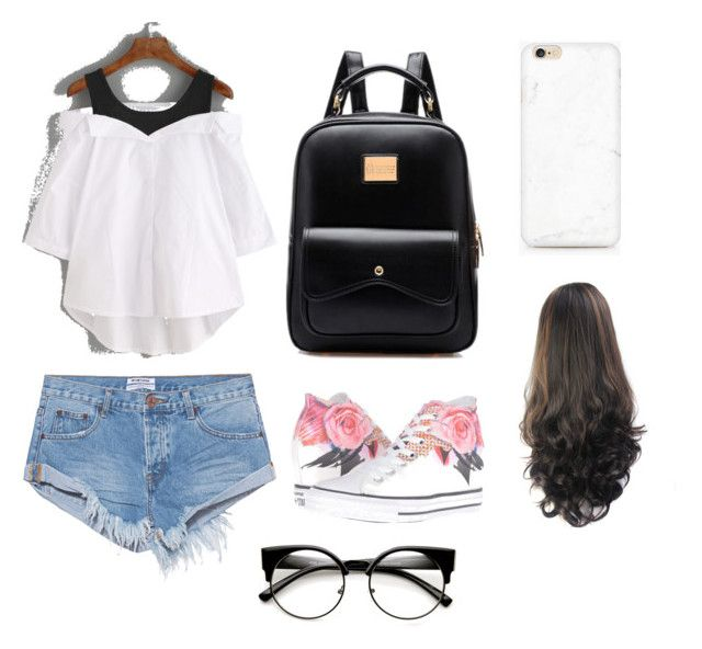 """""""Summer ❤️"""" by juliette-soucy on Polyvore featuring mode, One Teaspoon et Converse"""