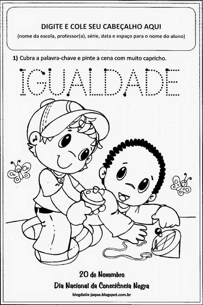 Dia Da Consciencia Negra Atividades Escolares 20 De Novembro Com Imagens Atividades Para Educacao Infantil Atividades Para Colorir Datas Comemorativas Educacao Infantil