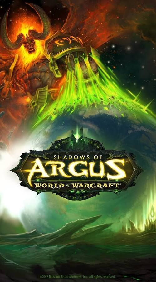 Prepare for Argus with epic Patch 7.3: Shadows of Argus wallpaper! World of Warcraft, September 2017