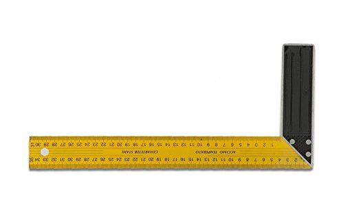 Metrica 29240 Équerre menuisier lames Jaune – Modèle aléatoire: Lame jaune, graduée en acier Talon en aluminium équerre de differentes…