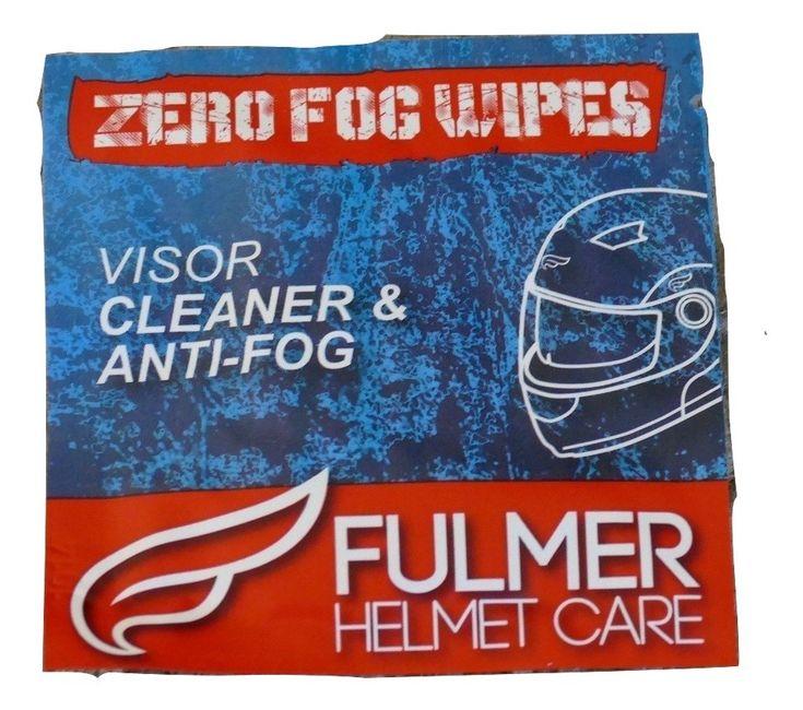SALE $12.00 freeship  Fulmer Helmet Care Zero Fog Wipes Visor Cleaner & Anti-Fog